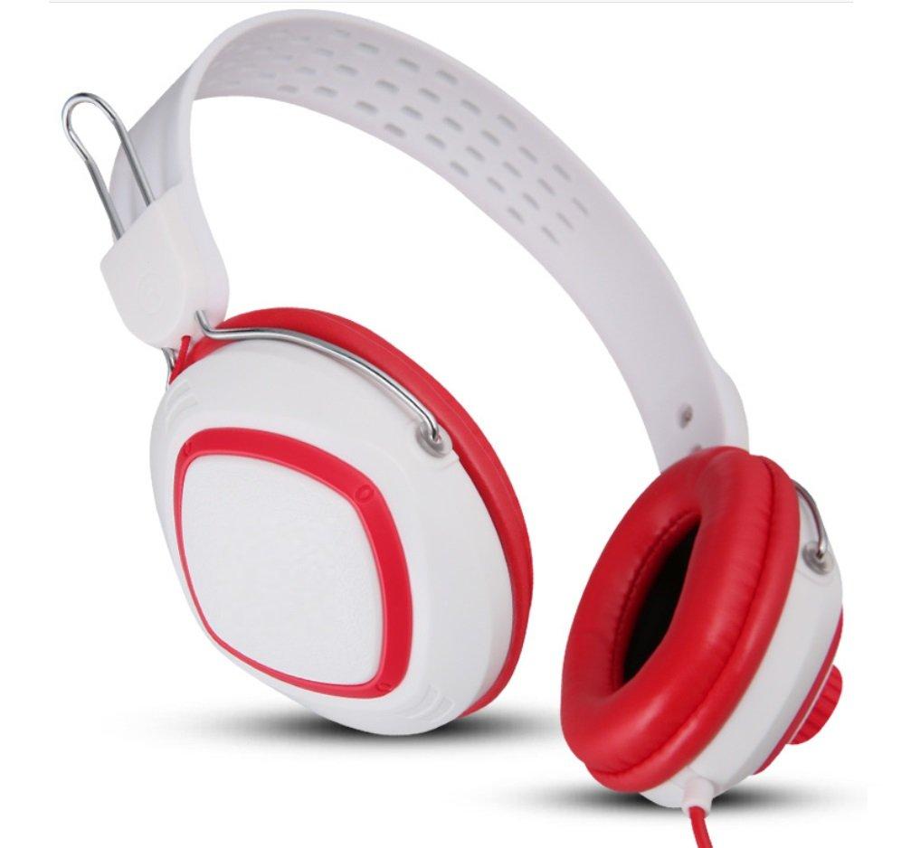 HEADSET Auriculares Estéreo para computadora de Escritorio con Auriculares para Niñas Nuevas Barras Anchas de Hombro Fundas para el Oído Que no Dañan la Piel Desgaste Cómodo Xuan