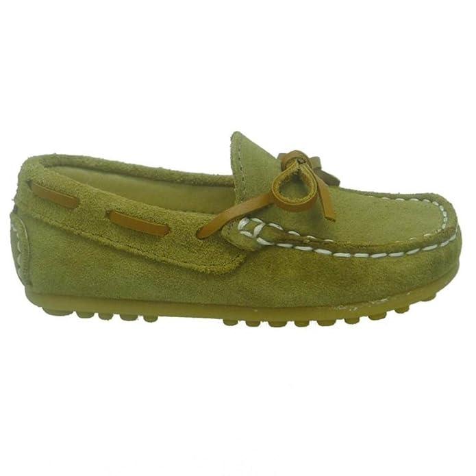 CLARYS Mocasines Niño con Lazo N20154 Afel Mushroom Arena: Amazon.es: Zapatos y complementos