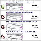 XSKN Magic Keyboard Logic Pro X Shortcut Keyboard Cover, XSKN Durable Logic Hotkeys Silicone Keyboard Skin for Apple Magic Keyboard MLA22LL/A, US version