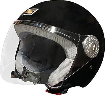 Origine Helmets Ecco Casco Jet, Negro Mate, S