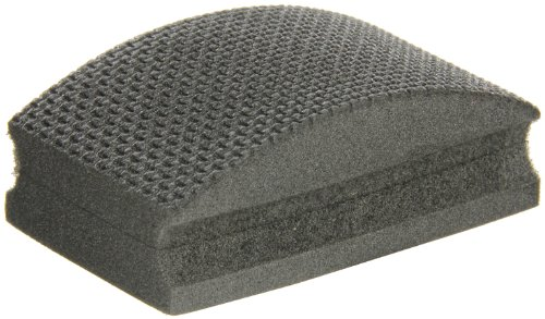 (Norton HP120 Conventional Curved Nonwoven Abrasive Hand Pad, Black Color, Diamond, Grit 120 (Pack of 1) )