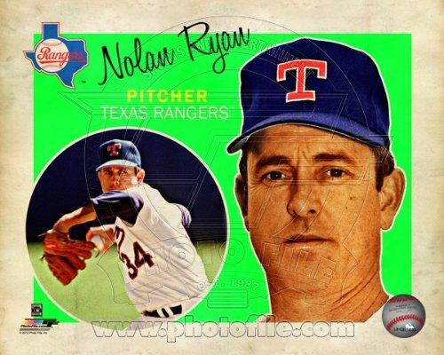 MLB Nolan Ryan Texas Rangers 2013 Retro Composite Photo 8x10