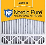 Nordic Pure 20x20x5 (4-3/8 Actual Depth) MERV 10 Honeywell Replacement Pleated AC Furnace Air Filter, Box of 4