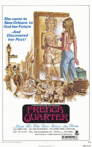 French Quarter Movie Poster 1977 Style A - Bruce Davison Virginia Mayo Lindsay Bloom