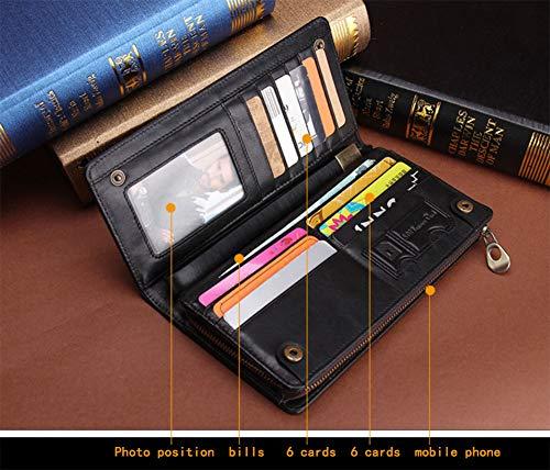 Longue Téléphone Cuir fonctions Case Portefeuille De Zyll monnaie Mens Vintage Véritable Carte Multi Housse En D'embrayage Porte xqYx4wZpz
