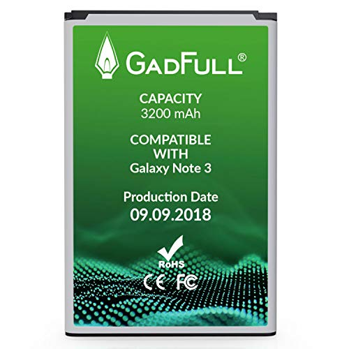 GadFull Battery Compatible with Samsung Galaxy Note 3 | 2018 Production Date | Corresponds to The Original EB-B800BE | Compatible with Galaxy Note 3 GT-N9000 | GT-N9005 | GT-N 9006 |GT-N9009 ()