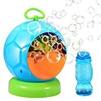 Geekper 06 Bubble Machine Automatic Blower Durable Maker with 1 Bottles of Solution Refill Over 500 Colorful Per Min Use, Green