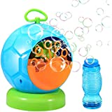 Geekper Bubble Machine Automatic Blower Durable Maker with 1 Bottles of Solution Refill Over 500 Colorfulper Min Use