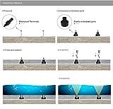 KPSUN 3W LED Underwater Light DC12-24V 4PCS