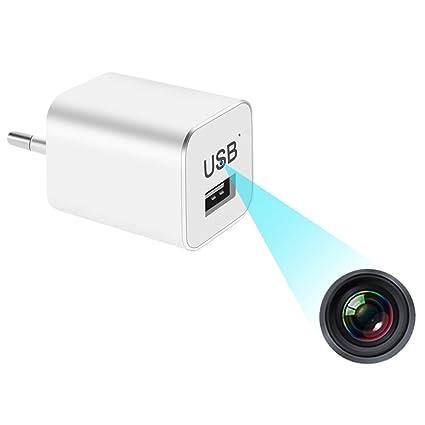 Cámaras ocultas Cámara oculta del cargador de la pared del USB de 1080P HD, enchufe del ...