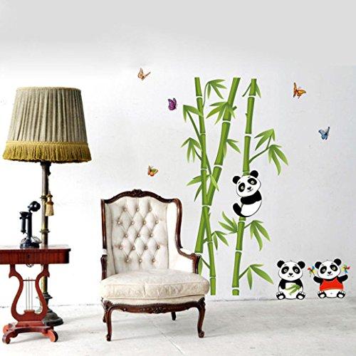 Vinyl Panda (Hatop Home Decor Mural Vinyl Wall Sticker DIY Panda Bamboo Pattern Nursery Room Wall Art Decal (C))