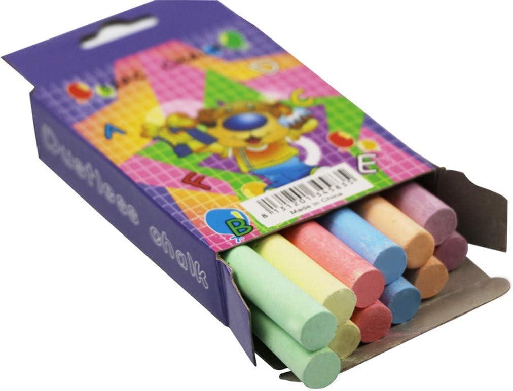 FORYULIK 12Pcs Jumbo Chalk,Coloured Chalk,Outdoor Chalk,Dustless Chalk,Chalk Pens for Blackboards Artists Imagination Drawing Games Chalks for Kids Toddlers Multicolor//12pcs