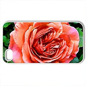 Beautiful RoCase For Samsung Note 4 Cover (Flowers Series, Watercolor style, White)