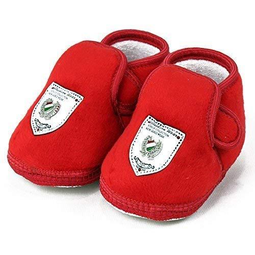 Velvet Plain Soft Baby Booties (Red