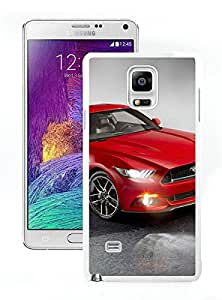 DIY Red Ford Mustang 2015 White Samsung Galaxy Note 4 Screen Cellphone Case Beautiful and Luxurious Look