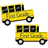 1st Grade - First and Last Day of School Bus Signs - Back to School Photo Prop
