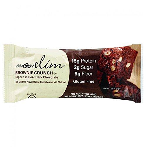 NuGo Nutrition Bar - Slim - Brownie Crunch - 1.59 oz Bars - Case of 12