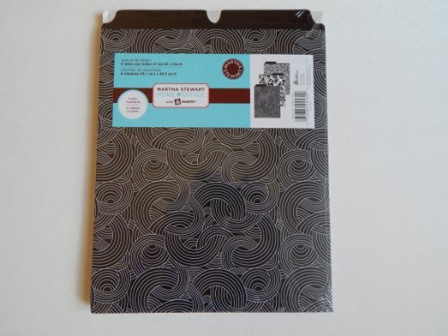 Martha Stewart Home Officetm 6 Vertical File Folders (Black)