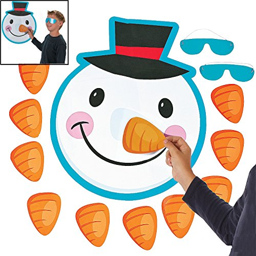 Paper Pin the Nose on the Snowman - Christmas Party Supplies