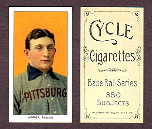 Honus Wagner 1909 T206 Tobacco Reprint Card with Cycle for sale  Delivered anywhere in USA