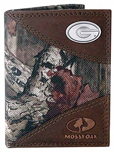 Georgia Nylon and Leather Trifold Wallet (Mossy Oak)