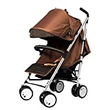 Sherman Blvd Single Stroller in Brown/ Tan, Multi position footrest with padded bumper bar