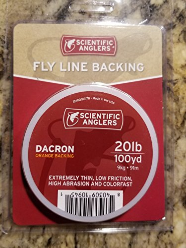 (Scientific Anglers Backing Dacron Fly Line, White, 20 lb/100)