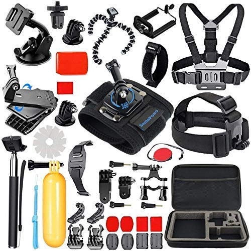 SmilePowo Sports Action Camera Accessory Kit for GoPro Hero6,5 Black, Hero 5,4,3,2,1,Session,GoPro Fusion,DBPOWER,AKASO,APEMAN,SJ CAM,XIAO YI ,2,Sony ,Sports Camera