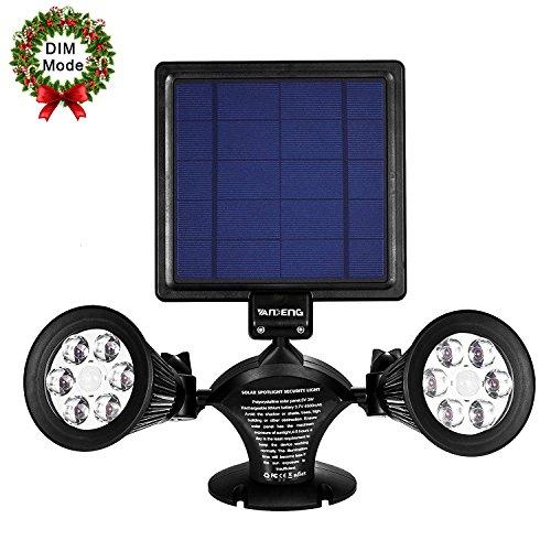 Solar Power PIR Motion Sensor Wall Light Waterproof Warm light Lamp - 5
