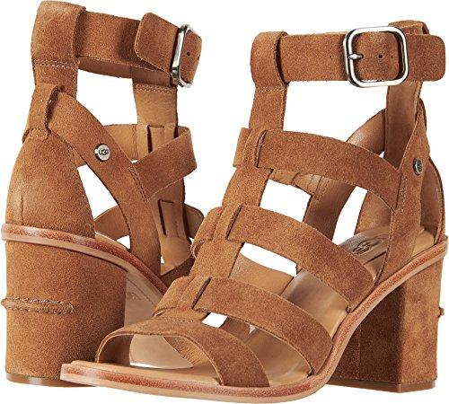 - UGG Women's Macayla Heeled Sandal, Chestnut, 9 M US