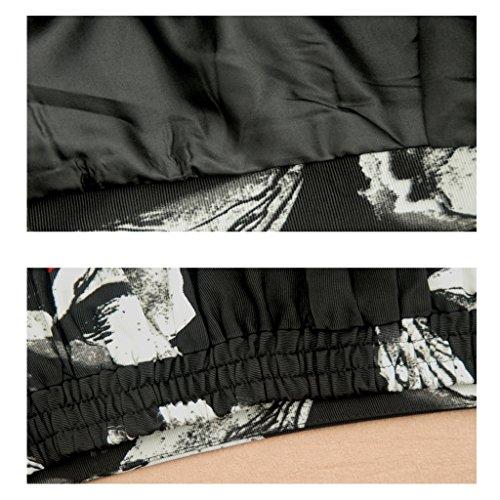 JIN PING® Gonne lunghe, tasche con cuciture laterali in vita elasticizzate ( dimensioni : M )
