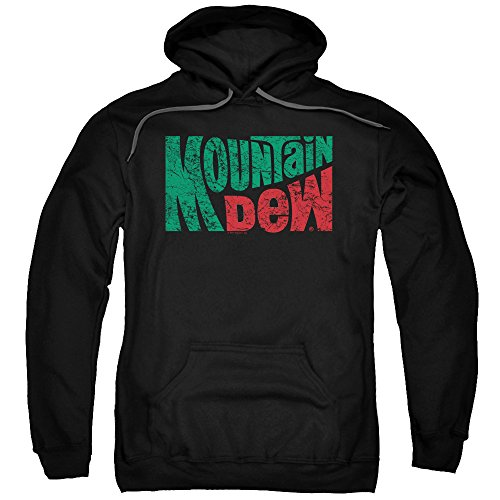 Trevco Mountain Dew Wavy Logo Unisex Adult Pull-Over Hoodie For Men and Women