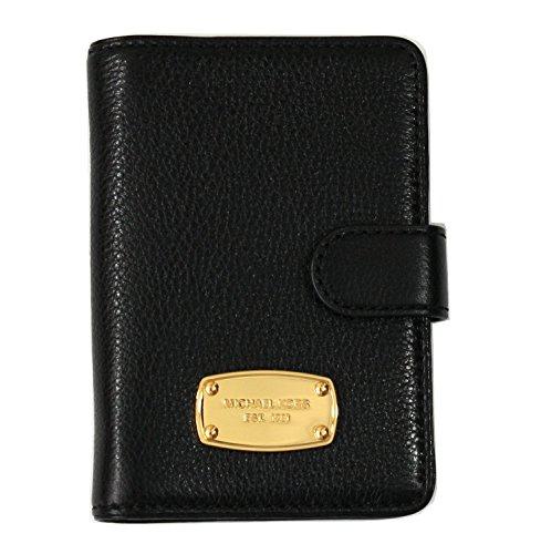 Michael Kors Jet Set Passport Case Holder Black Leather