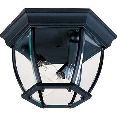 Maxim Lighting Three Light Glass Outdoor Flush Mount