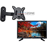Supersonic SC-2411 24 LED 1080p 12 Volt AC/DC HDMI Widescreen HDTV + Wall Mount