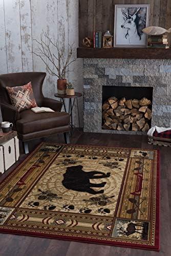 Universal Rugs Black Bear Area Rug, 7 10 x 10 3 , Brown