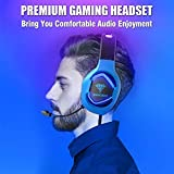 BENGOO G9500 Gaming Headset Headphones for PS4 Xbox One PC Controller, Over Ear Headphones with 720°Noise Cancelling Mic, Bicolor LED Lights, Adjustable Soft Memory Earmuffs for Nintendo Gamecube