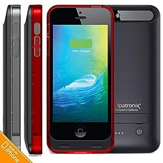 buy popular 0dfa5 6c5de iPhone 5S Battery Case, iPhone 5 Battery Case, Alpatronix [BX120 ...