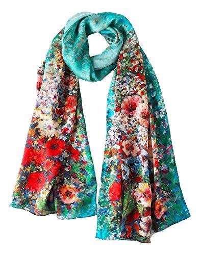 (YangtzeStore Long 100% Silk Scarf 67