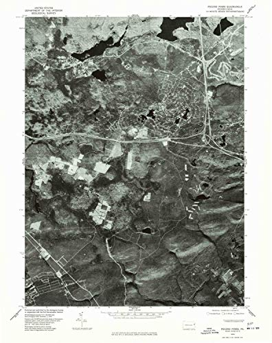 YellowMaps Pocono Pines PA topo map, 1:24000 Scale, 7.5 X 7.5 Minute, Historical, 1976, Updated 1978, 26.8 x 21.2 in - Polypropylene