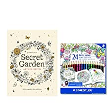 Secret Garden Artist's Edition: 20 Drawings to Color and Frame w/ STAEDTLER Noris Club Colouring Pencils, Exclusive Johanna Basford Edition - Assorted, Pack of 24