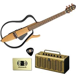 yamaha slg110s silent guitar bundle with yamaha thr5a desktop acoustic guitar amp. Black Bedroom Furniture Sets. Home Design Ideas