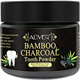 Activated Charcoal Teeth Whitening Powder 100% Natural Black Carbon Coconut with no Sensitivity for Tooth Whitening by Aliver (Bamboo Charcoal)