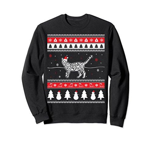 Unisex Bengal Cat Lover Ugly Christmas Sweatshirt Pet Gift 2XL Black