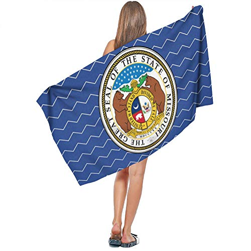 Sale23 Best Guest Funny Ultra Soft Beach Towel-Great Seal of The State of Missouri Personalized Perfect for Bath,Beach,Home,Travel,Pool,Camping,Gym or Anywhere Else