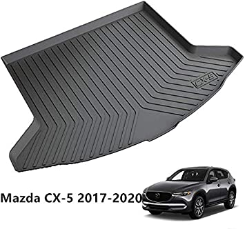 MightyFox TPV Laser Measured Cargo Liner for Mazda CX-5 2017-2020 Cargo Tray Trunk Cargo Mat Trunk Tray Mat Heavy Duty