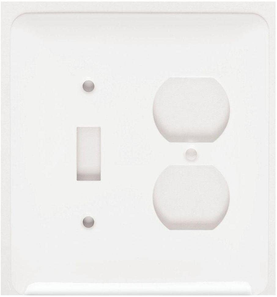 Mulberry 76532 Cold Rolled Steel Screw Mount Princess Maxi Size 2 Gang Combination Wallplate 1 Duplex Receptacle 1 Toggle Switch White Amazon Com