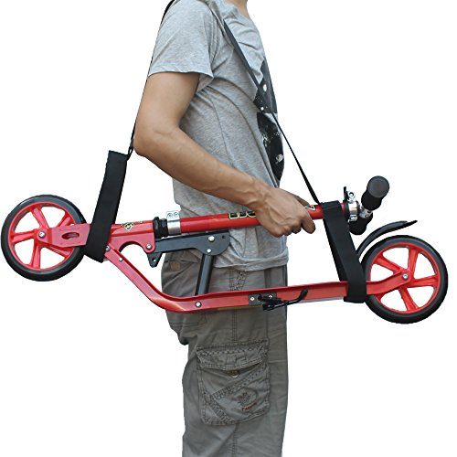 YYST Kick Scooter Shoulder Strap Kick Scooter Carrying Strap - No further damage to your back! No Scooter! (Bag Scooter Carry)