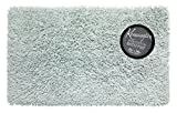 Carnation Home Fashions BM-M3L/49 Shaggy Cotton Chenille Bath Room Rug, 21'' x 34''/Large, Spa blue