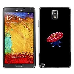 Caucho caso de Shell duro de la cubierta de accesorios de protección BY RAYDREAMMM - Samsung Note 3 N9000 - Vileplume P0kemon
